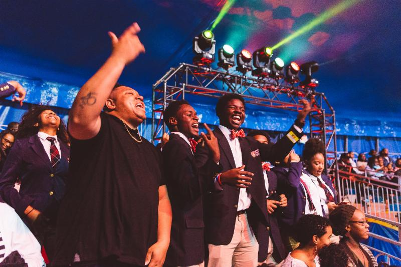 Tedashii Hosts Harvard Debate Council Diversity Program Students at Universoul Circus in Atlanta